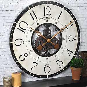 Carlisle Gears Wooden Wall Clock