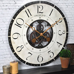 Carlisle Gears Wooden Wall Clock