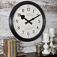 Avalon Black Wall Clock