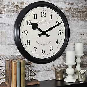 Avalon Black Wall Clock