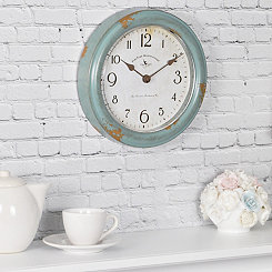 Teal Patina Wall Clock