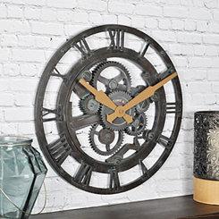Oxidized Gears Wall Clock