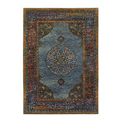 Blue Andy Area Rug, 5x7