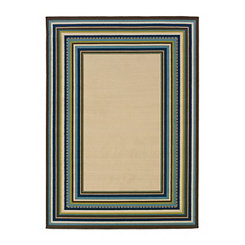 Blue Bordered Capetown Area Rug, 8x11
