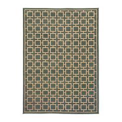 Slate Blue Squares Cooper Area Rug, 5x7