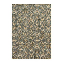 Brown Medallion Harp Area Rug, 5x8