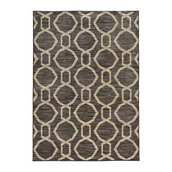 Gray Hex Gate Harp Area Rug, 5x8