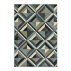 Navy Geo Lindy Area Rug, 5x8