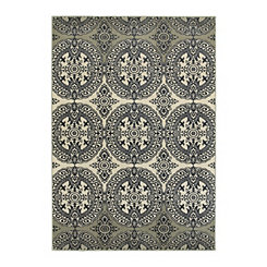 Navy Medallion Lindy Area Rug, 5x8