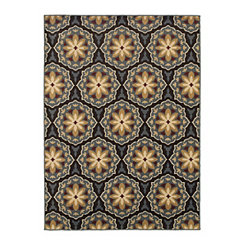 Brown Hex Nola Accent Rug, 2x3