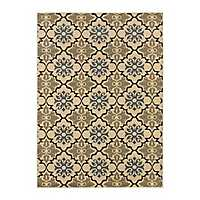 Cream Tile Nola Accent Rug, 2x3