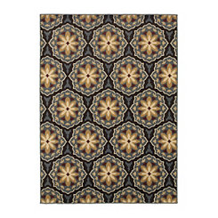 Brown Hex Nola Area Rug, 5x7
