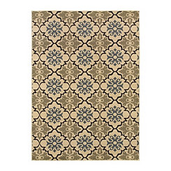 Cream Tile Nola Area Rug, 5x7