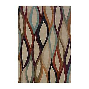 Ribbons Sklar Area Rug, 5x8