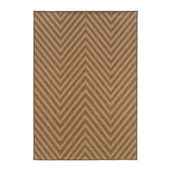 Tan Chevron Vista Area Rug, 5x8