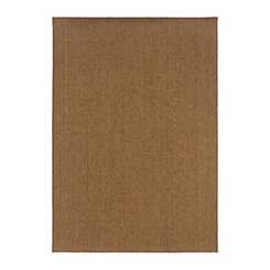 Dark Tan Vista Accent Rug, 2x4