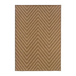Tan Chevron Vista Area Rug, 7x10