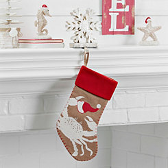 Burlap Coastal Crab Stocking