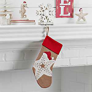 Burlap Coastal Starfish Stocking