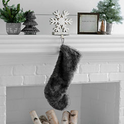 Gray Fur Stocking