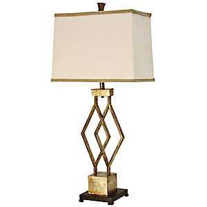 Vintage Gold Metal Table Lamp