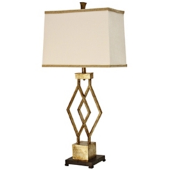 Vintage Gold Metal Table Lamp