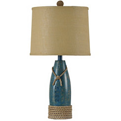 Coastal Sea Blue Table Lamp