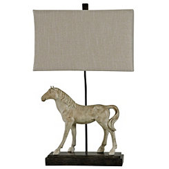 Gray Dappled Horse Table Lamp