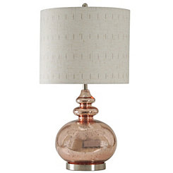 Rose Mercury Glass Table Lamp