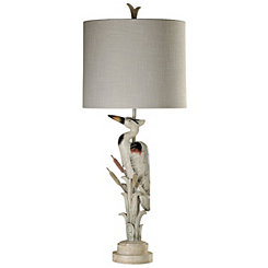 Tall Heron Table Lamp