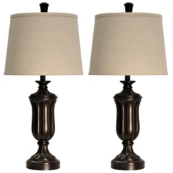 Madison Bronze Table Lamps, Set of 2