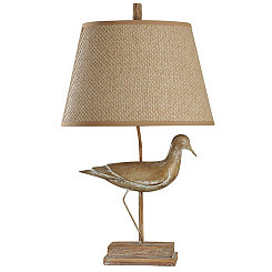 Distressed Sandpiper Table Lamp