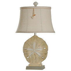 Large Sand Dollar Table Lamp