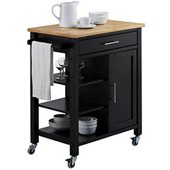 Black Edmonton Kitchen Cart