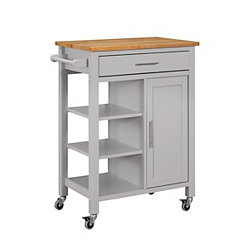 Gray Edmonton Kitchen Cart