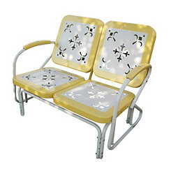 Yellow and White Retro Metal Glider