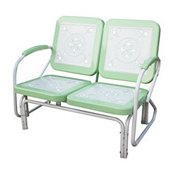 Lime Green and White Retro Metal Glider