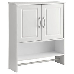 White 2-Door Bathroom Wall Cabinet