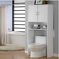 White 2-Door Bathroom Cabinet