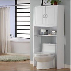 White 2-Door Bathroom Cabinet