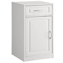 White 1-Door Bathroom Storage Cabinet