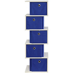 Ocean Blue Zig Zag Storage Drawers