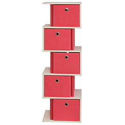 Pink Zig Zag Storage Drawers