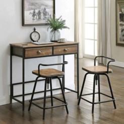 Urban Loft Table and Stools, Set of 3