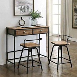 Urban Loft Table and Stools, Set of 3