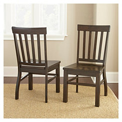 Susana Dark Oak Dining Chairs, Set of 2