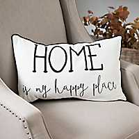 Home Is My Happy Place Accent Pillow