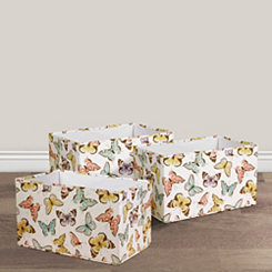 Flutter Butterfly Collapsible Bins, Set of 3