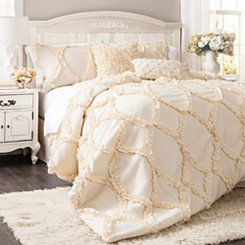 Ivory Avon 3-pc. Queen Comforter Set