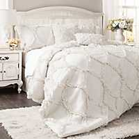 White Avon 3-pc. King Comforter Set